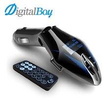 Digitalboy 12 V Transmisor Inalámbrico de FM Reproductor Mp3 Pantalla LCD Reproductor de Música MP3 de Audio Del Coche Reproductor de Modulador de FM Con Mando a distancia