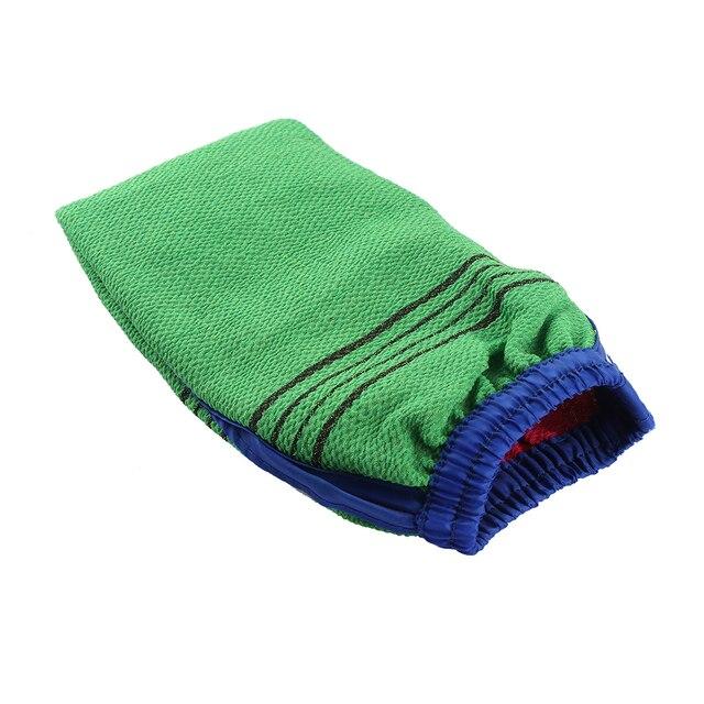 1 PC Random Color Shower Spa Exfoliator Two-sided Bath Glove Body Cleaning Scrub Mitt Rub Dead Skin Removal Bathroom Products 1