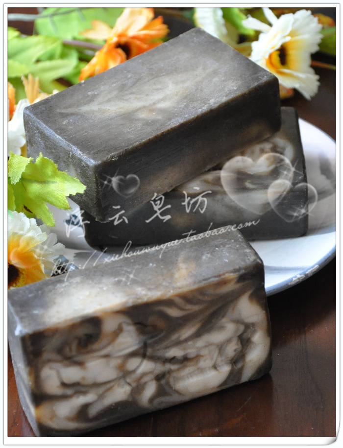 Handmade soap papaya whitening antibiotic wormwood beauty soap 90g