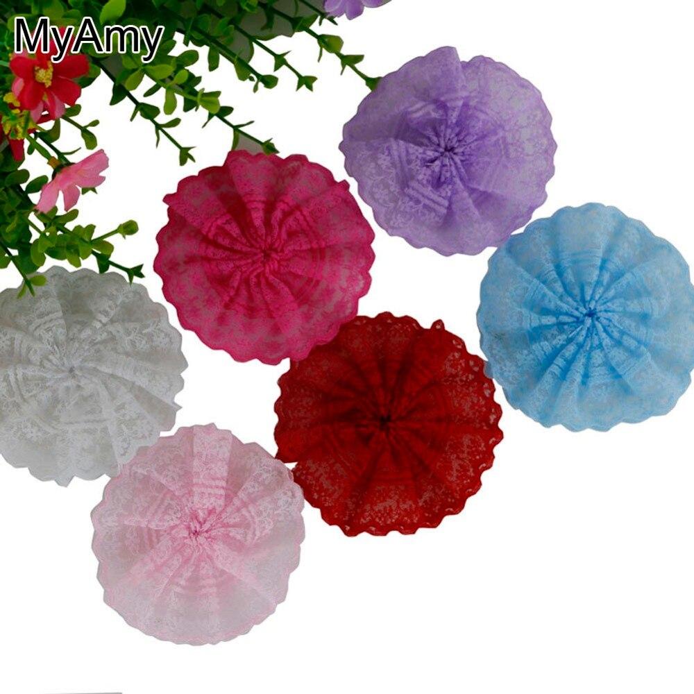 myamy 60pcs lot diy lace flowers