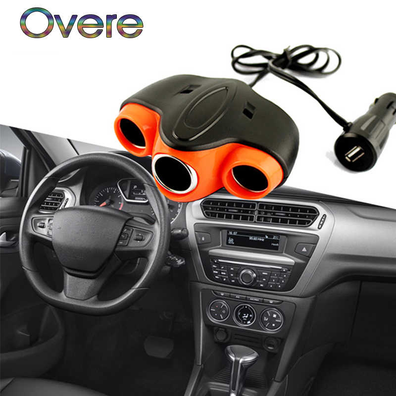 overe 1pc auto car cigarette lighter usb plug for ford focus 2 3 fiesta  mondeo mk4
