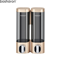 Gold Soap Dispenser For Liquid Soap Detergent Shower Shampoo Bottle Container Soap Dispensers Wall Mounted Bathroom Accessories