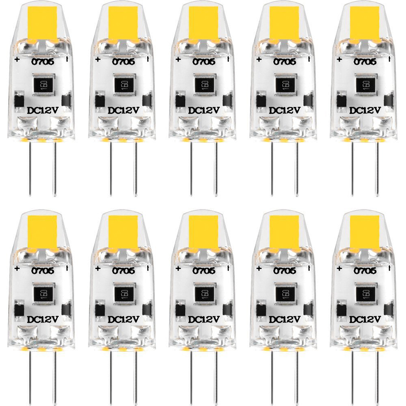 10 Pack Mini G4 COB LED Bulb 12V DC Dimmable Lampadas LED G4 Lamp Light Bulbs 360 Beam Angle Replace 15W Halogen For Chandelier