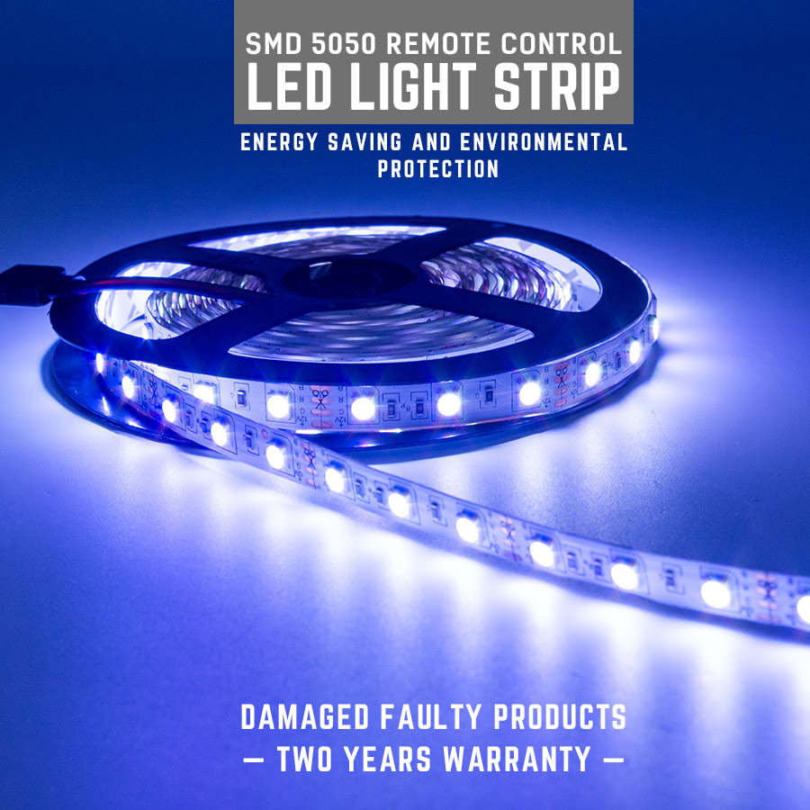5M 300Leds Blue SMD 5050 Flexible Led Strip Light Lamp DC12V IP65 Waterproof