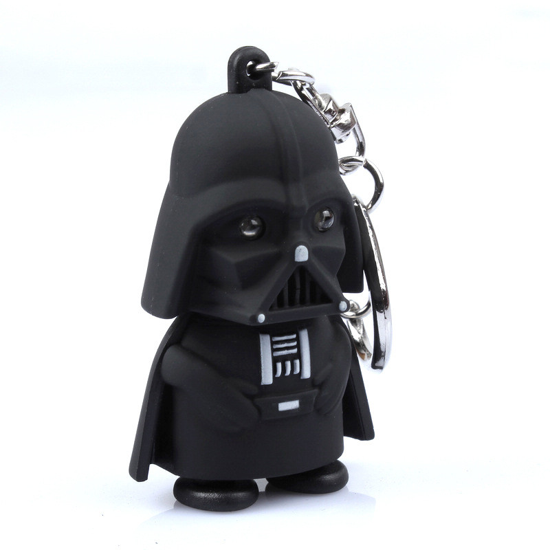 Star Wars <font><b>Mini</b></font> Led <font><b>Key</b></font> <font><b>Ring</b></font> shatle <font><b>Black</b></font> Knight Stormtrooper Action Figure Darth Vader led Keychain toys 10pcs/lot
