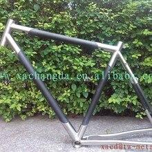 Титановая и карбоновая рама для горного велосипеда, титановая рама для горного велосипеда, титановая безшовная рама для горного велосипеда, титановая рама для шоссейного велосипеда