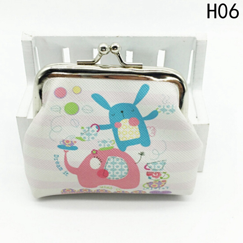 Women Retro Vintage PU Leather Hot Sale Coin Purse Ladies Bag Hasp Purses Clutch Small Wallet Elephant Animal Printed