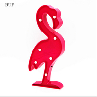 BUF Party Decoration Flamingo Marquee Letter Light 2AA Battery Operated Led Marquee Light Christmas Tree Baby