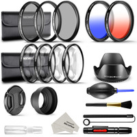 Neewer 52mm Lens Filter Kit for DSLR Camera with 52mm Thread Size: Graduated Blue and Orange Filter Set, UV CPL ND4 Filter Set