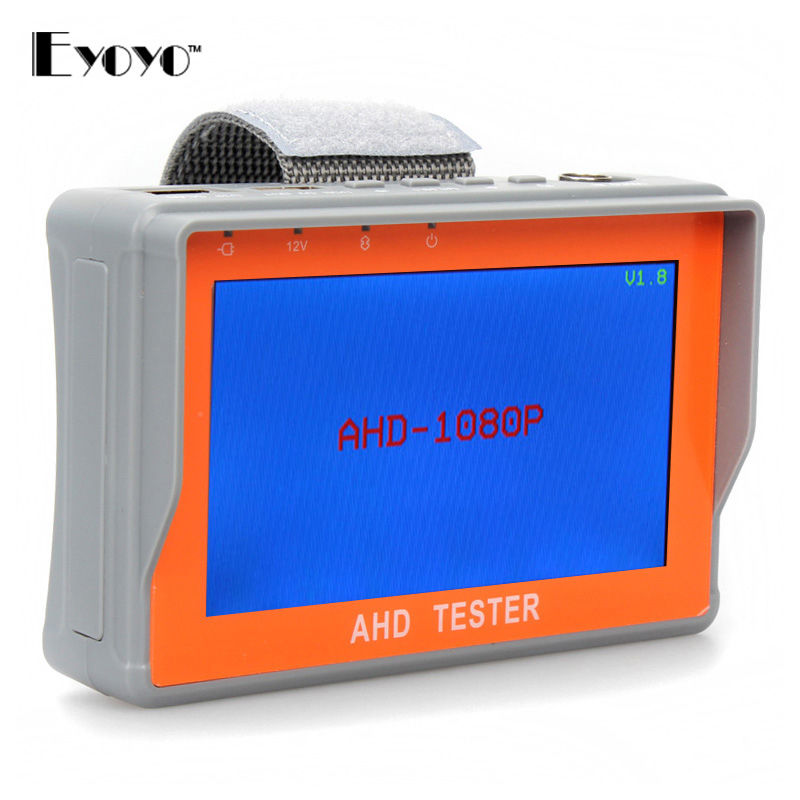 Free Shipping!4.3AHD&CVBS Analog Camera CCTV Security Tester LCD Monitor Video Audio Wrist strap 1080P 960P 720P W/ 12V Output