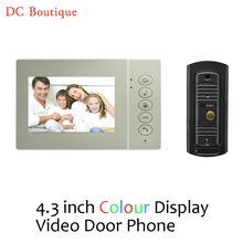 (1 set) Home intercom system Video intercom Doorphone one to one night version Door access control system Talk back 4.3Inch