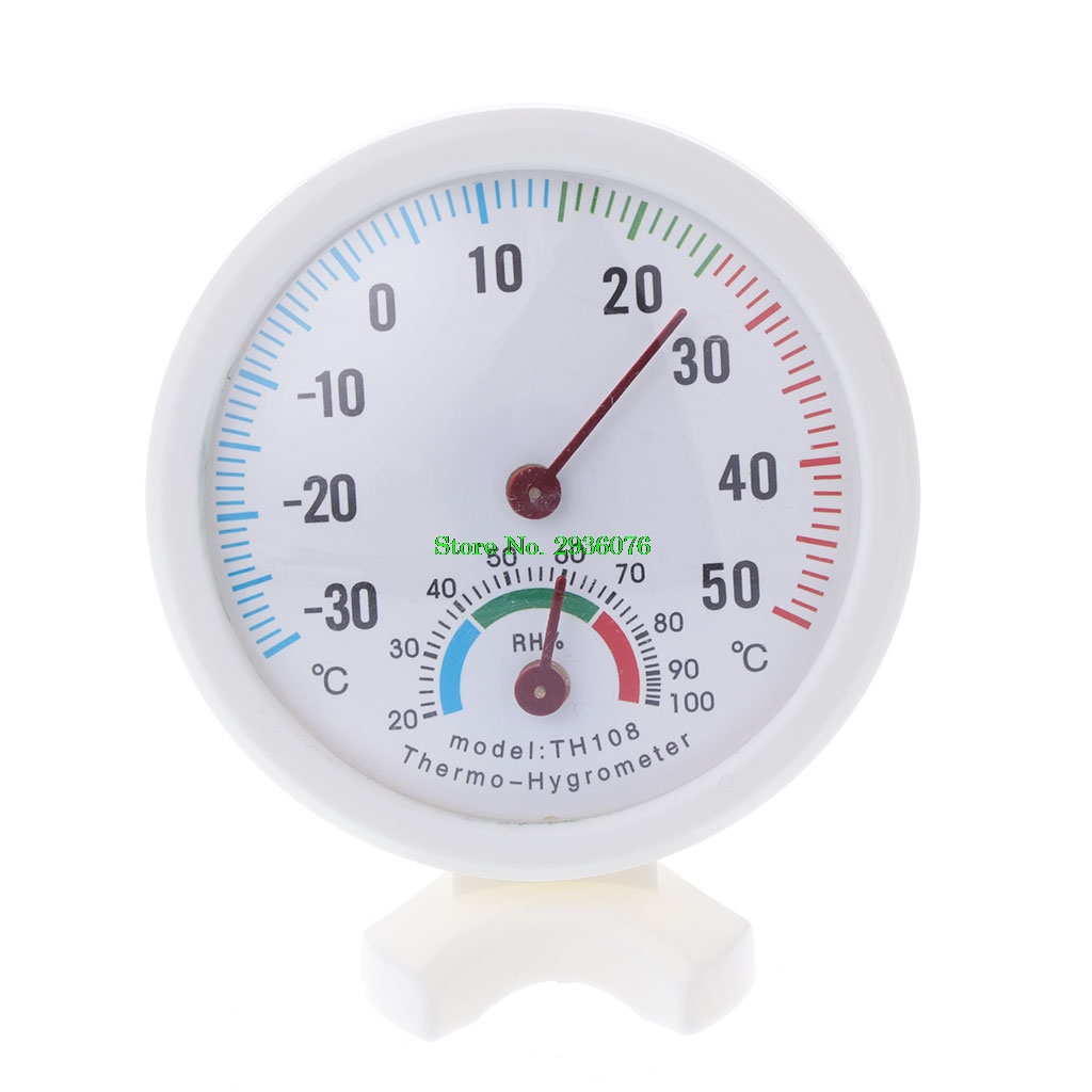Mini Humidity Thermometer Meters Round Clock Shaped Indoor