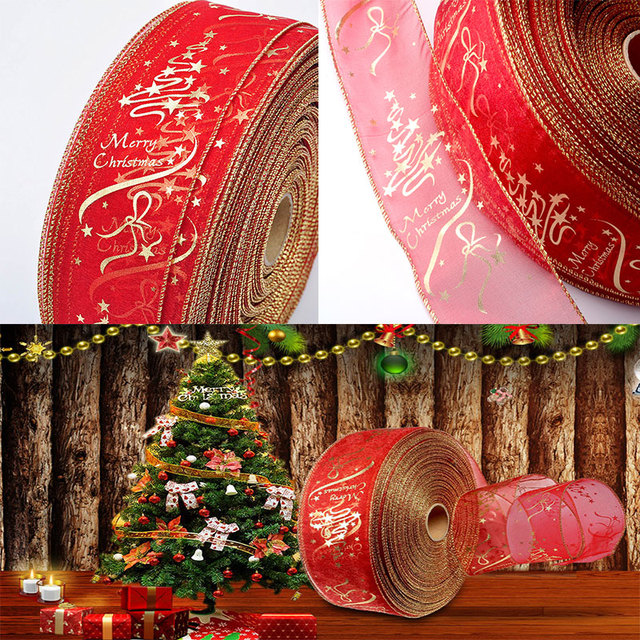 200cm Christmas Tree Decorations Ribbons Party Supply Xmas Bow Ribbon High-Grade Christmas Decorations For Home