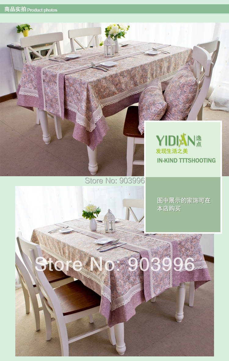 Free shipping Chinese rural style Coloured glaze gold cotton splicing antependium Rectangular table cloth art(140*220cm)