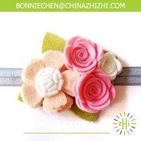 Mode artificielle fleur pour bandeau, feutre fleur, fleur artificielle décorative boutique