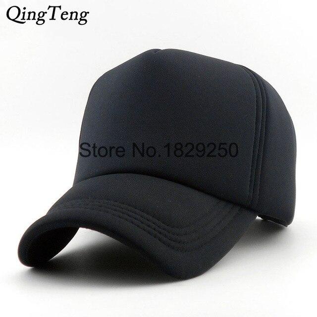 b0661b4294c New Lot Color Solid Trucker Cap Unisex Adjustable Cotton Brand Men Snapback Hats  Black Baseball Caps Women Leisure Gorras