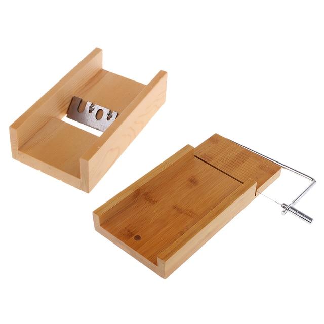 Outils de fabrication de savon/bougie   Raboteuse à biseaux en bois + coupe-savon avec coupe-savon à fil, pour lartisanat de bricolage de savon/bougie 2 pièces
