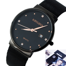 KRYLOVA Watches Women Top Brand Luxury Casual Watches Clock Rose Gold Mesh Stainless Steel Ladies Wrist Watch Relogio Feminino dom sliver mesh stainless steel watches women top brand luxury casual clock ladies wrist watch relogio feminino g 36d 1m
