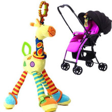 Pudcoco Baby Toys Giraffe Model Rattle Ring Bell Fun Musical Stroller Toys soft toddler newborn Rattles Infant Baby Accessories