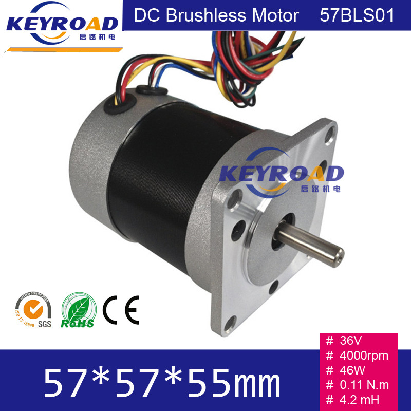 36V 4000rpm 46W 6 8A Circle Fuselage Brushless DC Motor With Hall feedback 3 phase Brushless