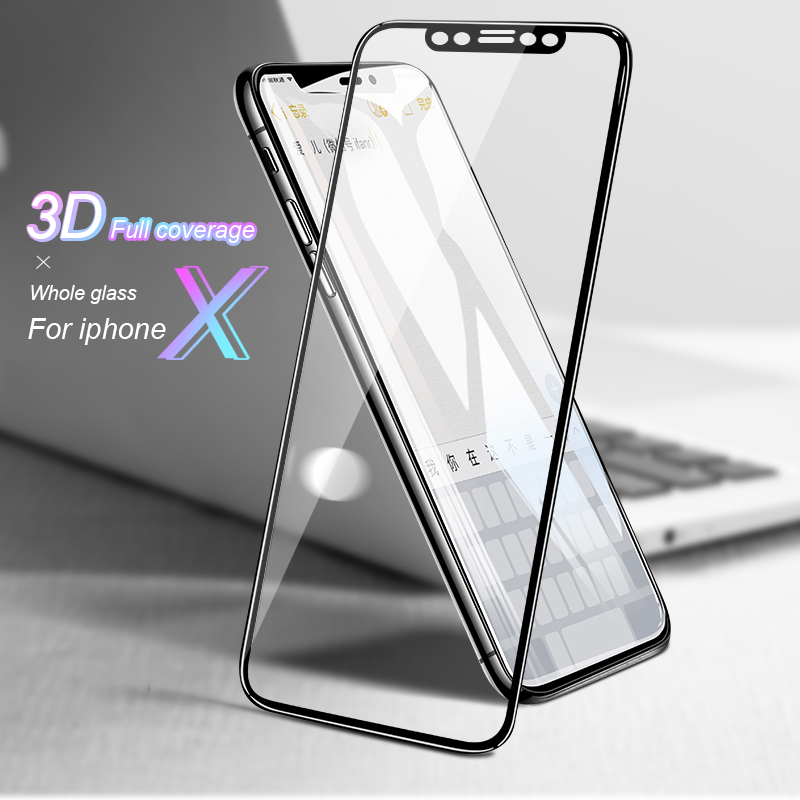 BXE 3D Full Curved edge Tempered Glass Screen Protector For iPhone X XS Max XR Protective Film