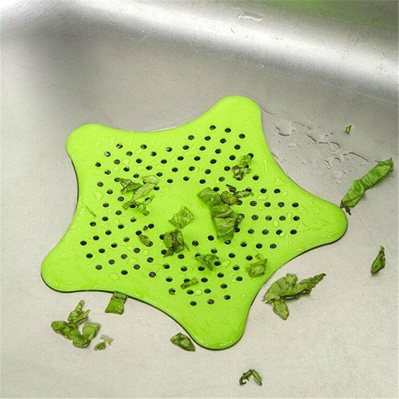 1PCS színes szilikon szopók fürdőszobai mosogató kiegészítők fürdőszobai szopós mosogató szűrő csatorna haj Colanders szűrők szűrő