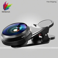 Mobiele Camera Lens 8mm HD Full Screen Fisheye Lens Mobiele Telefoon Camera Universele Clip Professionele Fish Eye Lens L-823
