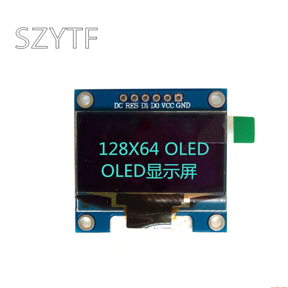 0.96 I2C IIC <font><b>SPI</b></font> Serial 128X64 Blue and Yellow OLED LCD LED Display Module for <font><b>Arduino</b></font>/stm32/51 image