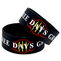 50PCS/Lot 1'' Wide Band Three Days Grace Silicone Wristband, Perfect Gift for Music Fans