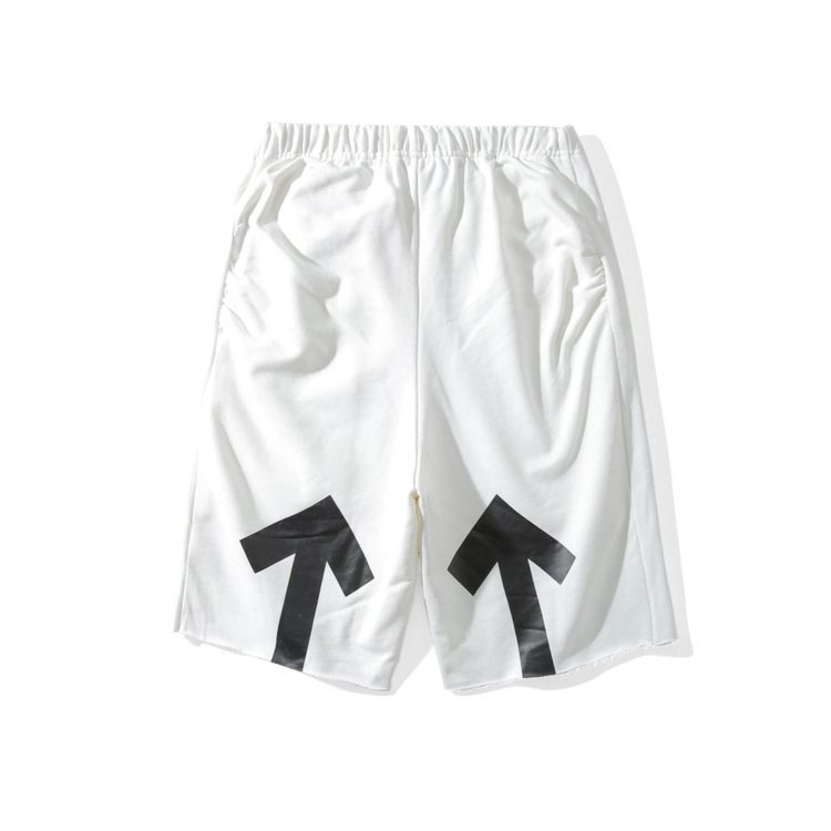 1790c3758fad Top Quality New Arrival 2017 Summer OFF WHITE Simple Yellow Arrow Printing  Five Sub Men Women Casual Beach Shorts-in Casual Shorts from Men s Clothing  on ...