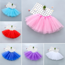 10PCS/Lot Wholesale 0-8Y Baby Girls Kids Tutu Skirt Fluffy Pettiskirt Children Ballet Dance Skirts Petticoats Girl Tulle Skirts valentine black ruffle rainbow hearts girl pettitop black petal pettiskirt nb 8y mapsa0121