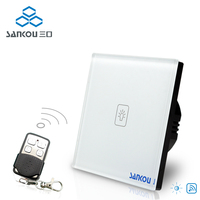 EU Standard Switch AC 220 250V Remote Dimmer Wall Light Switch Wireless Remote Control Switches