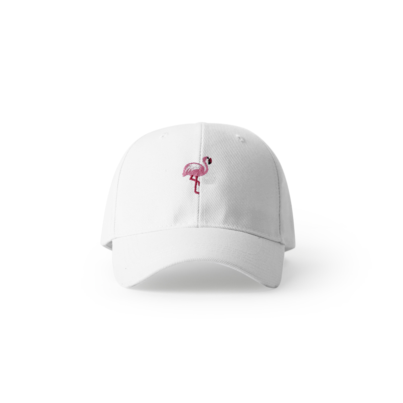 Pink Flamingo Embroidery Fashion Hats For Men Anime Bird Embroidery Harajuku Streetwear Lovers Couple   Baseball     Cap