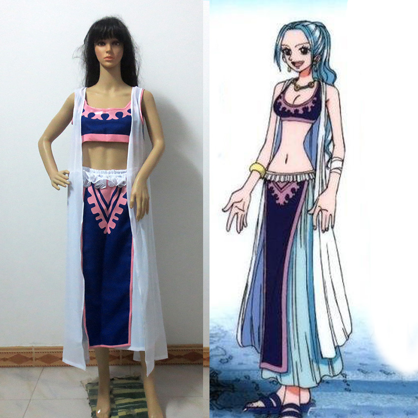 One Piece Nefeltari Vivi Cosplay Costume