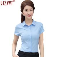 2018 New Women Shirt Clothing White Business OL Long Sleeve Slim Formal Blouses Office Ladies Work