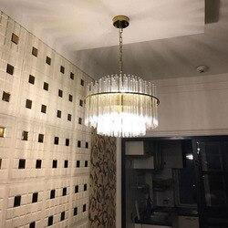 Atmosfera soggiorno casa lampadario di cristallo ristorante post-moderno e minimalista Americano personalità creativa arte del vetro duplex
