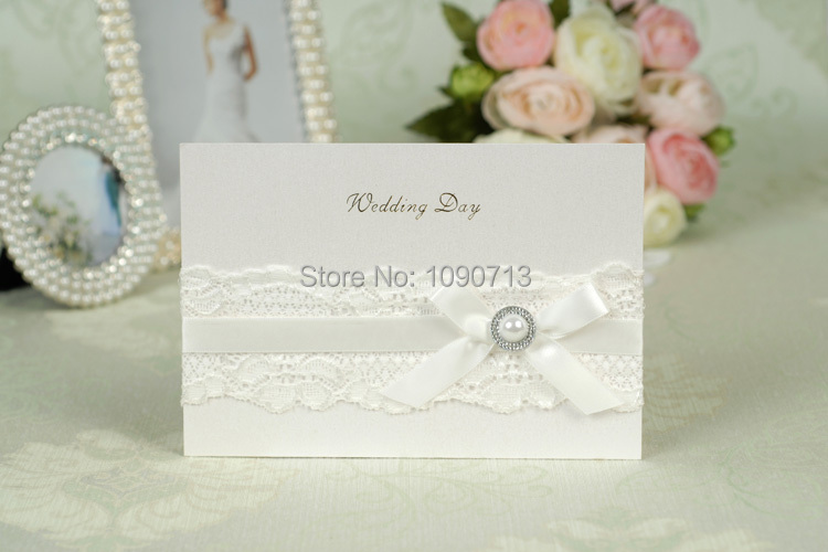Buy Wedding Invitations: Aliexpress.com : Buy Free Shipping 40 X Creative Bow White