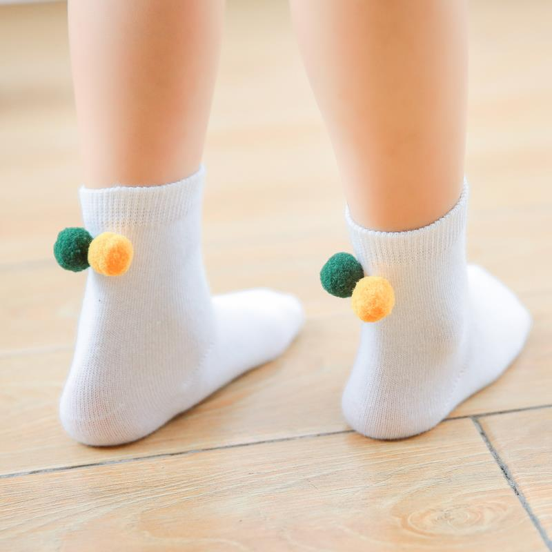 2016 new Autumn/Winter 1~10y Baby Cotton socks Kids Boy and Girl Children short Socks Cute Smile With Braid C865