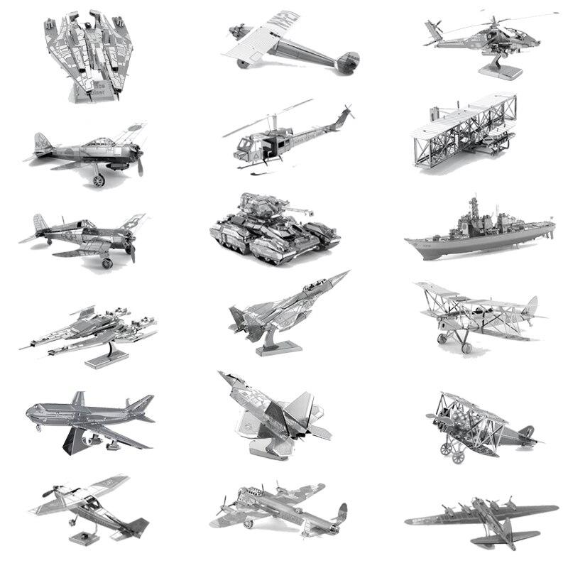 DIY 3D Metal Puzzle Airplane Tank Tarship Adult Military Mods