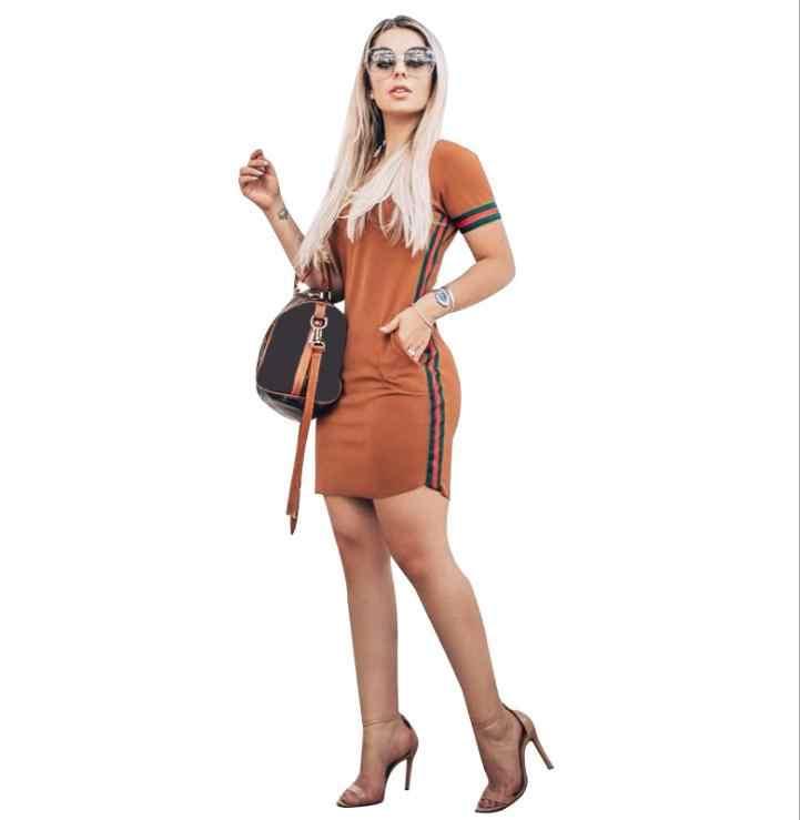 Robe d'été femmes collage bosse ruban fesse serré sexy robe décontracté sport robe jurken zomer 2019 vestidos