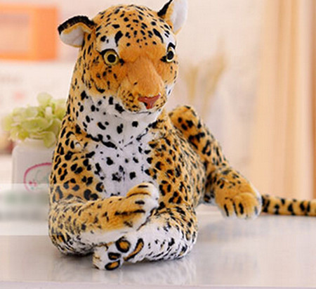 Free shipping emulate Leopard plush animal stuffed toy gift for friend kids children kids boys birthday party gifts zoo king 30cm plush toy stuffed toy high quality goofy dog goofy toy lovey cute doll gift for children free shipping