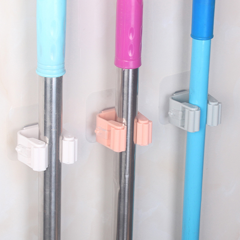 Home Organizer Clip Mop Hooks No Track Mop Holder Stoarge Rack Holer Bathroom Rack Hook Mop Hanger Storage Rack Kitchen Tools