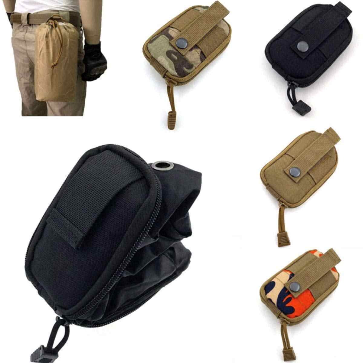 c6bcc54ed661 Tactical Molle Dump Pouch Drawstring Spacious Folding EDC Bag Military  Holster Pack Outdoor Water Bottle Ammo Pouch