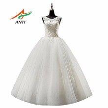 ANTI Romance Ball Gown Wedding Dress 2017 Vestido De Noiva Appliques Robe De Mariage Bridal Gowns