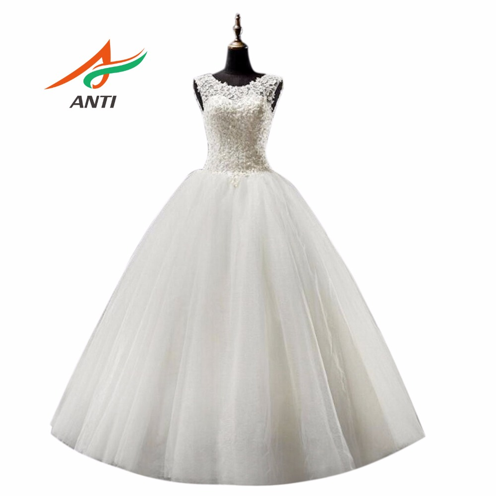 ANTI Romance Ball Gown Wedding Dress 2018 Vestido De Noiva Appliques Robe De Mariage Bridal Gowns Tingkat Panjang Custom Made