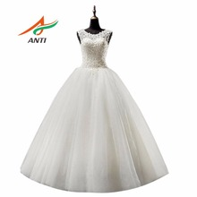 ANTI Romance Ball Gown Wedding Dress 2017 Vestido De Noiva Appliques Robe De Mariage Bridal Gowns Floor Length Custom Made