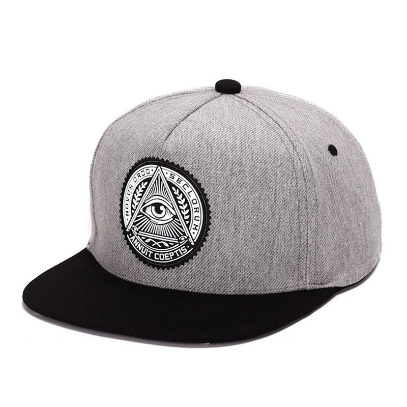 2019 new High Quality cotton snapback 3d god eyes plastic patch mens flat brim baseball cap hip hop hat and cap for men&women