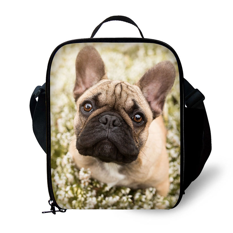 Brand lunch bag Animal pet dog print lunch box portable freezer picnic food bag lunch bag fresh bag image
