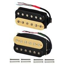 Fleorアルニコ5ハムバッカーコイルエレキギターピックアップ首やブリッジゼブラカラー