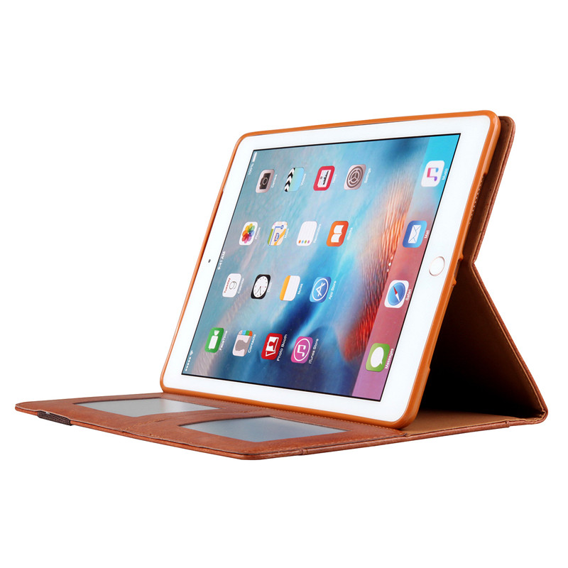 For iPad 9 7 2017 2018 Case Retro Vintage PU Leather Book Magnet Flip Tablet Cover for iPad Air 1 2 Pro 9 7 Sleep wake up Capa in Tablets e Books Case from Computer Office